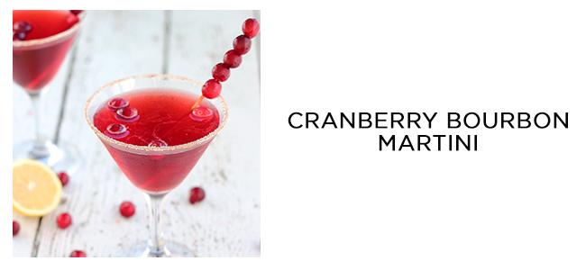 cranberry bourbon martini
