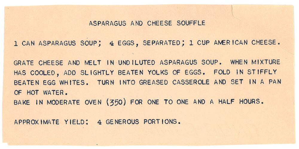 Asparagus Cheese Souffle