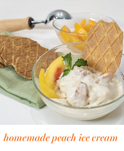bitesize peach ice cream