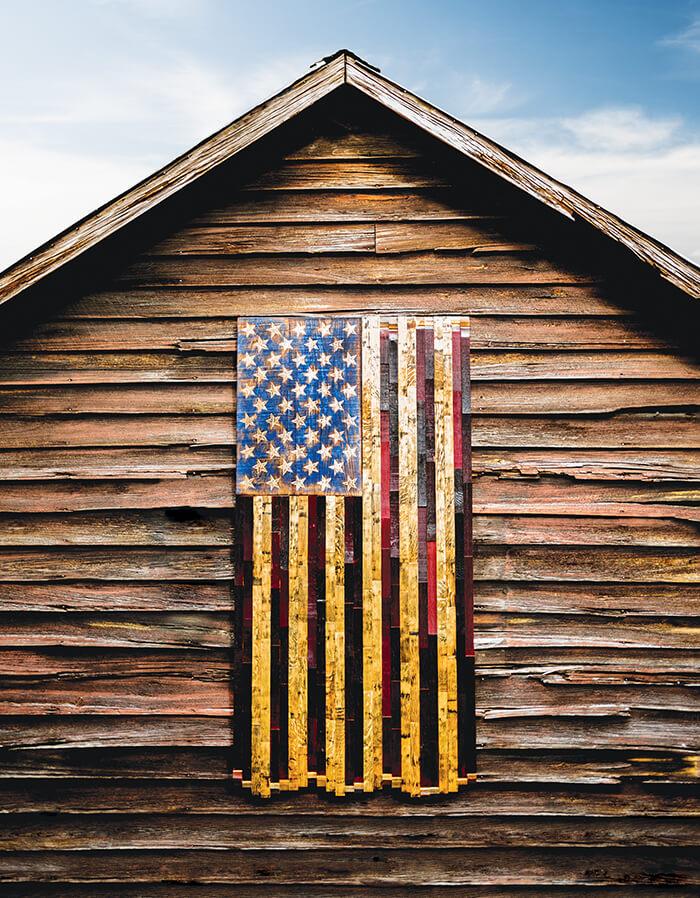 heritage flag barn