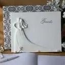 Bride and Groom Design Rhinestones Guestbook (101049657)