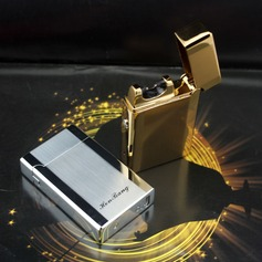 Solid-Color Stainless Steel Electronic Lighter