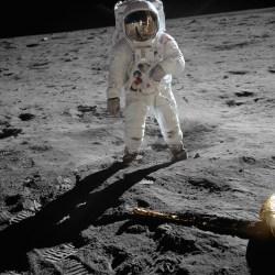 Astronaut Buzz Aldrin, Apollo 11 pilot. Photo by Neil Armstrong.