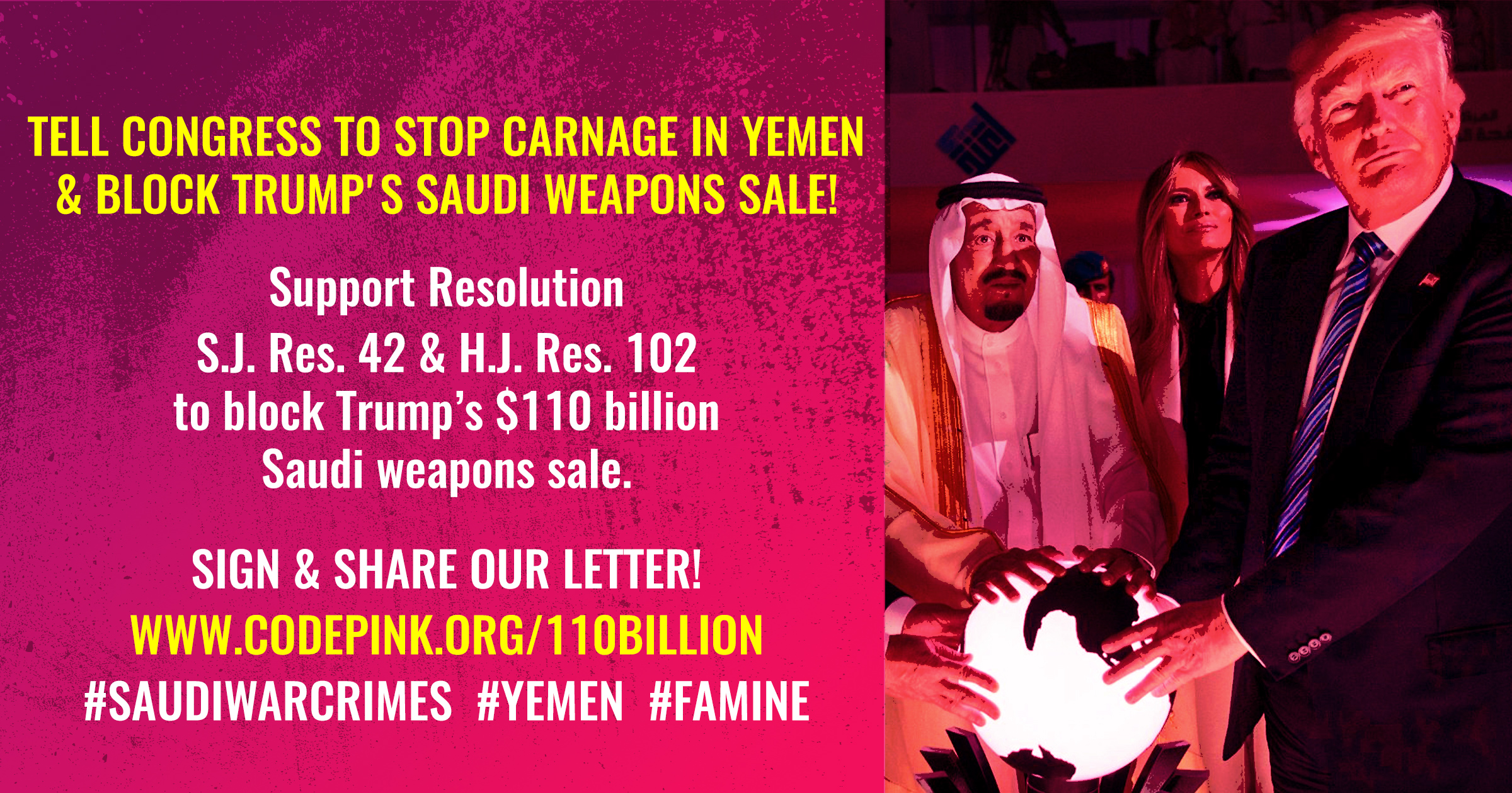 Stop Weapons Sell to Saudi Arabia