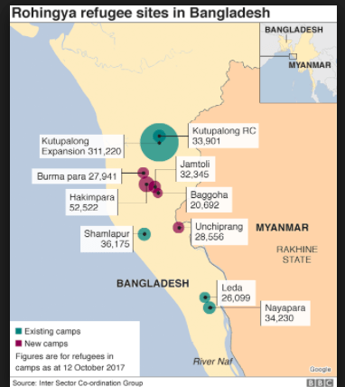 Taking Care of The Flood of Humanity in Bangladesh -- 622,000 Rohingya Arrive in Three Months