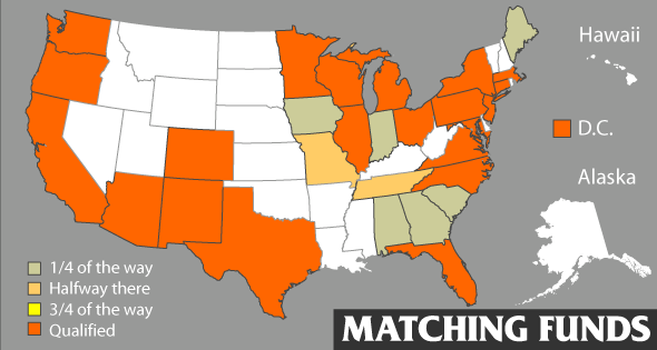 Matching funds map