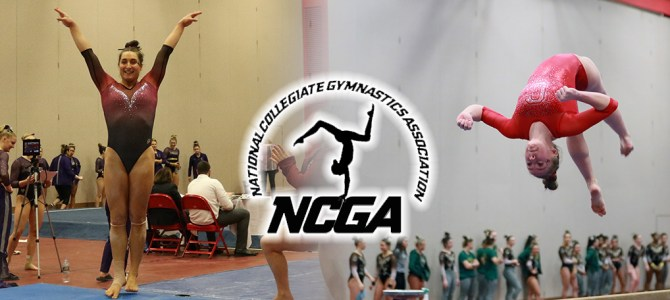 Hanley and DiCicco Earn NCGA East Gymnast of the Week Honors