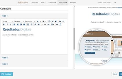 funcionalidade email marketing