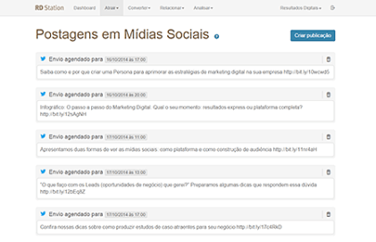 funcionalidade mídias sociais