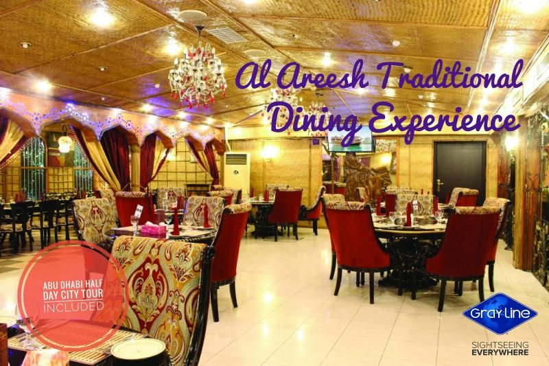"""DISCOVER ABU DHABI Tour with  Traditional Dining Experience """"AL AREESH"""" in Abu Dhabi"""