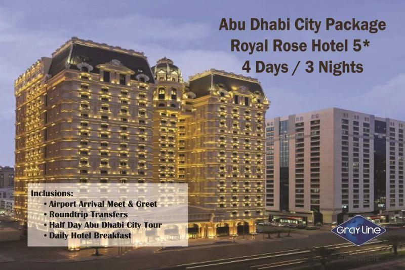 ABU DHABI City Package - ROYAL ROSE HOTEL 5* - 4 days/3 nights