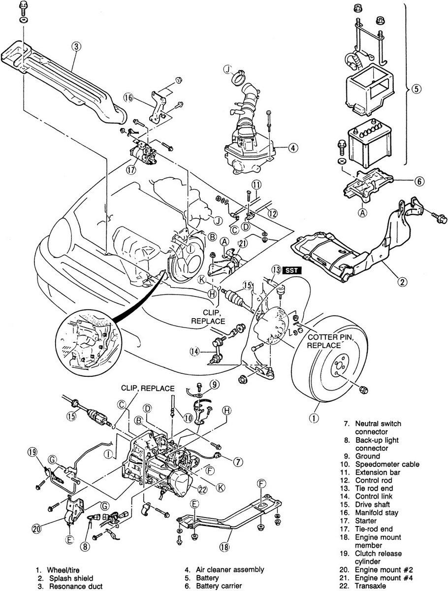 Solved 1998 mazda protege starter 1998 2003 mazda protege ifixit rh ifixit 2003 mazda 6 engine diagram 2007 mazda 3 parts diagram