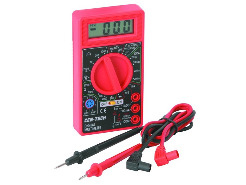 Rotate selector to ac or dc voltage · step 3: Cen-Tech Digital Multimeter Repair - iFixit