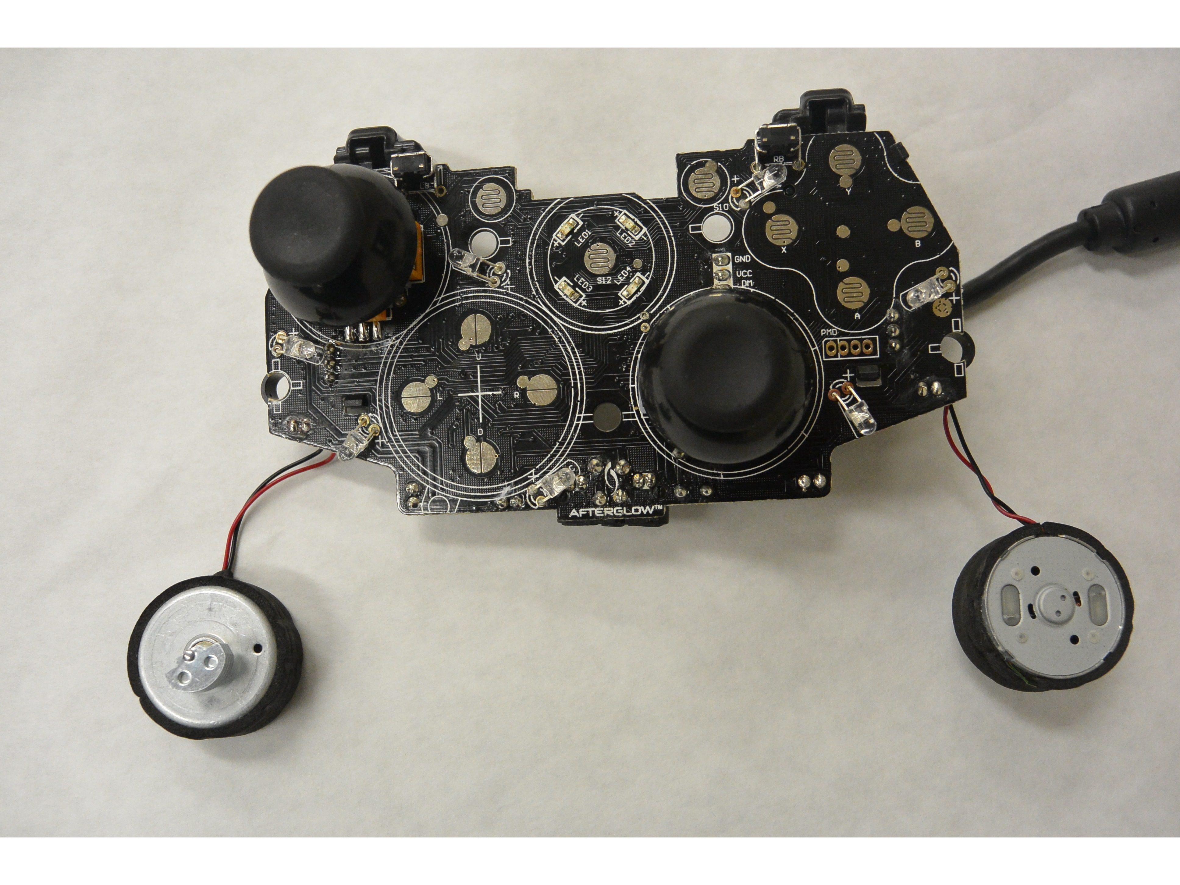 PDP Afterglow Wired Xbox 360 Controller Vibration Motors