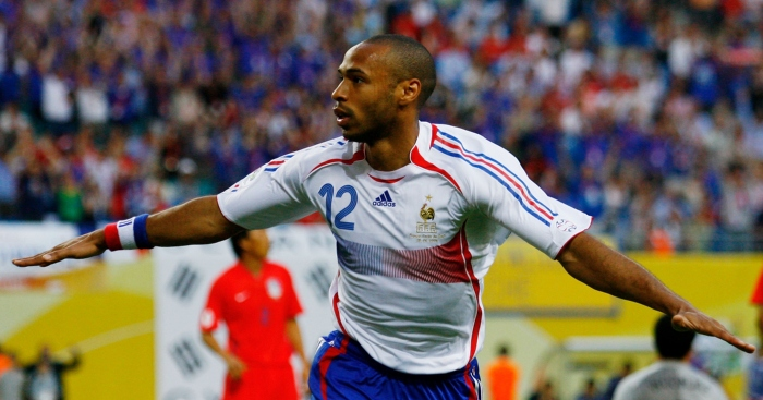 Watch: Henry and Zidane combine to score great goal for France legends - Planet Football