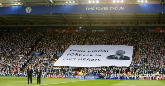 Image result for leicester vichai tribute