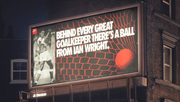 Sports direct has taken a leaf out of the nike playbook with 'just a. Seven Classic Nike Football Billboards Eric Cantona Arsenal Paolo Maldini Planet Football