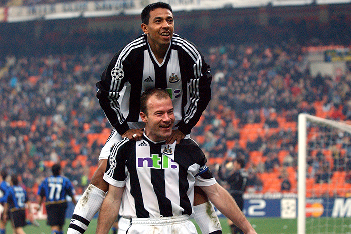 Alan Shearer Nolberto Solano Newcastle United - Planet Football