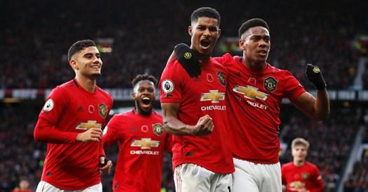 Marcus Rashford Manchester United goal celebration ...
