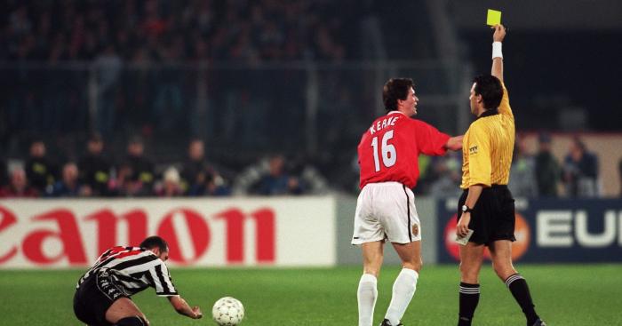 Roy Keane Manchester United Juventus yellow card 1999