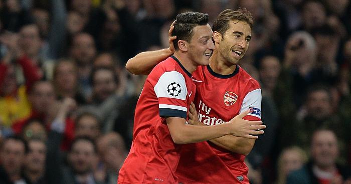 Mesut Ozil Mathieu Flamini Arsenal