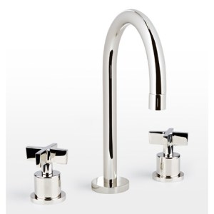 Bathroom Fixtures   Rejuvenation West Slope Cross Handle Widespread Bathroom Faucet