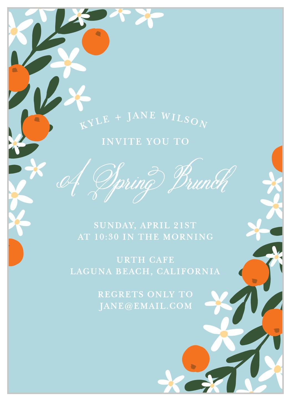 springtime luncheon party invitation
