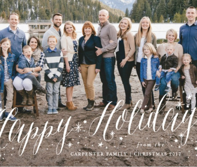Sparkler Photo Christmas Cards