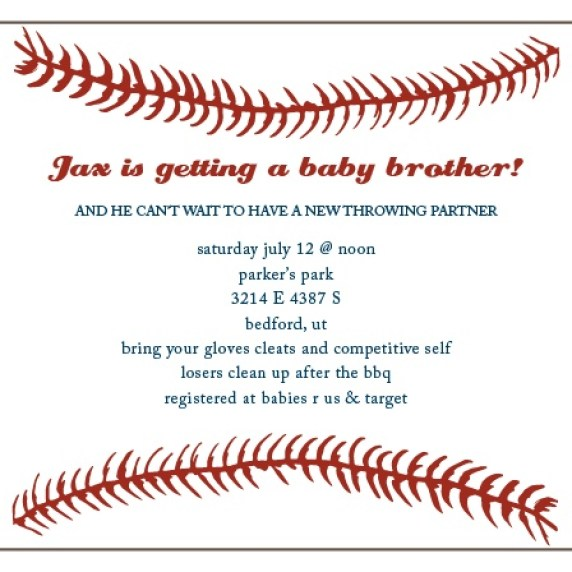 Announce the newest member of your family with the help of their big brother! Celebrate with a fun park barbecue and a game of slow pitch!