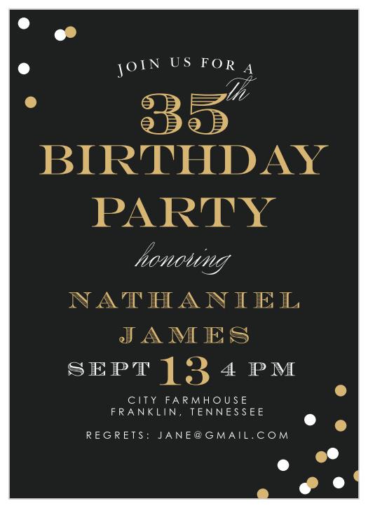 classy birthday invitations match