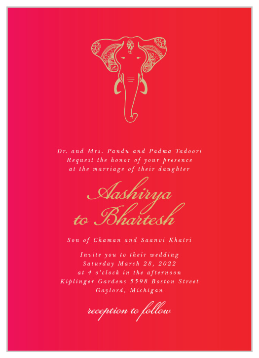 indian wedding invitations match your