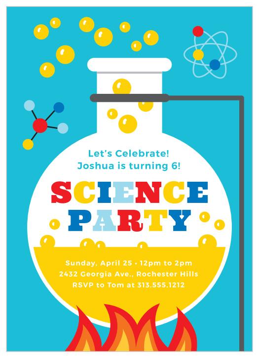 science children s birthday invitations