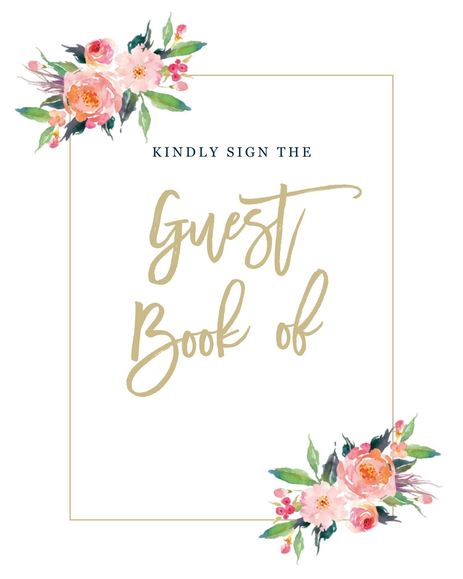 Standing Ovation Guest Book Sign Printables By Basic Invite