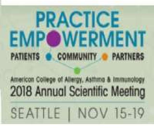 American College Of Allergy Asthma Immunology Acaai  Annual Scientific Meeting