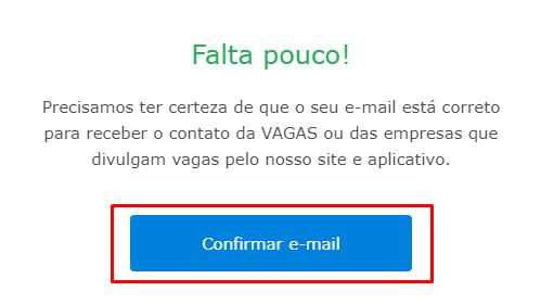 Confirmar e-mail - VAGAS.com