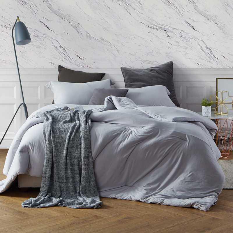 bare bottom college dorm comforter twin xl bedding tundra gray