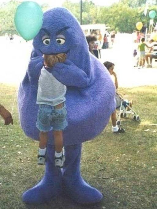 Much Tastier Than Big Macs Mcdonald S Grimace Eats A Kid
