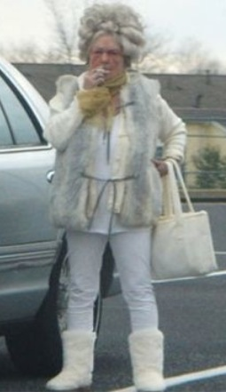 Grandma Takes A Smoking Break In The Parking Lot Ugly