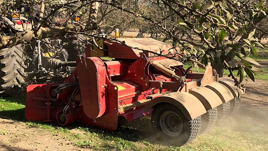 Gearmore grinding in the orchard