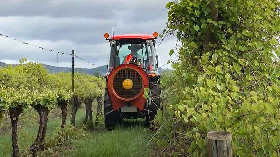 Smart Guided Systems sprayer in action