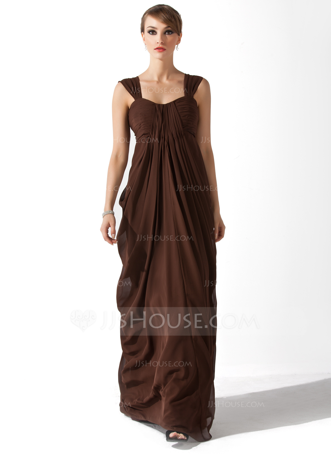 Empire Sweetheart Floor Length Chiffon Mother Of The Bride