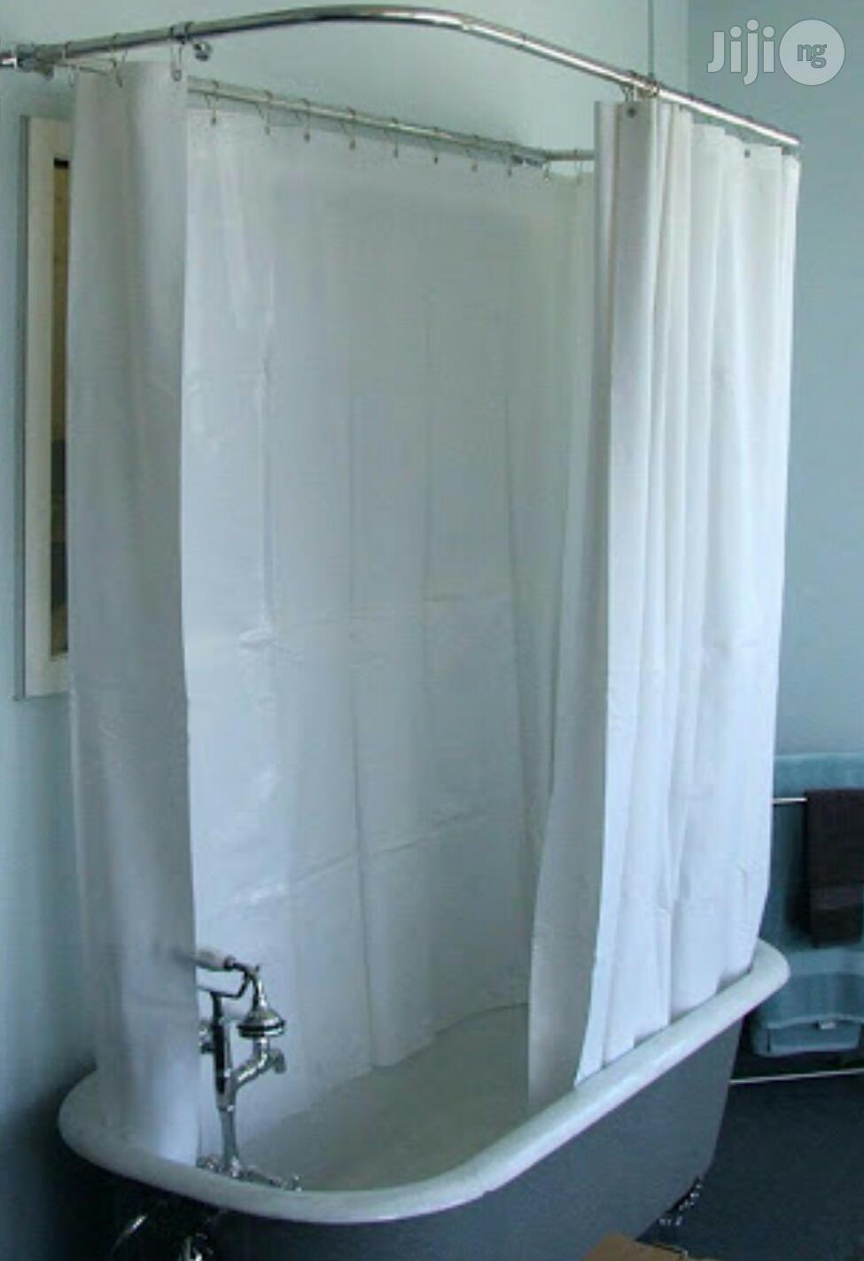 corner shower curtain rod kit aluminium