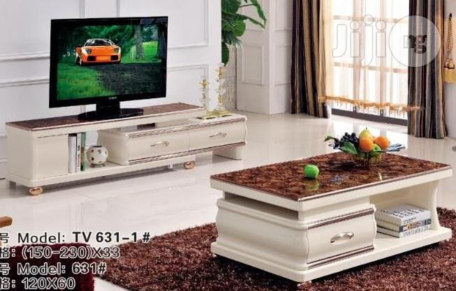 nice quality tv stand with center table