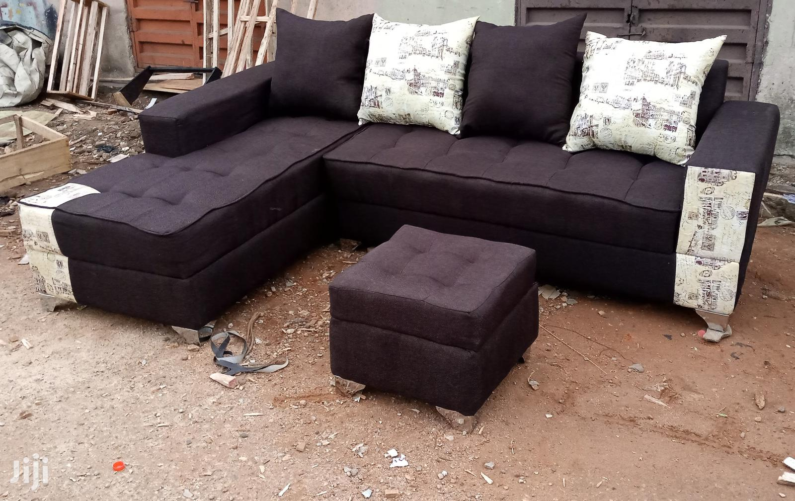 l shaped sofa chair and ottoman dark brown fabric couches