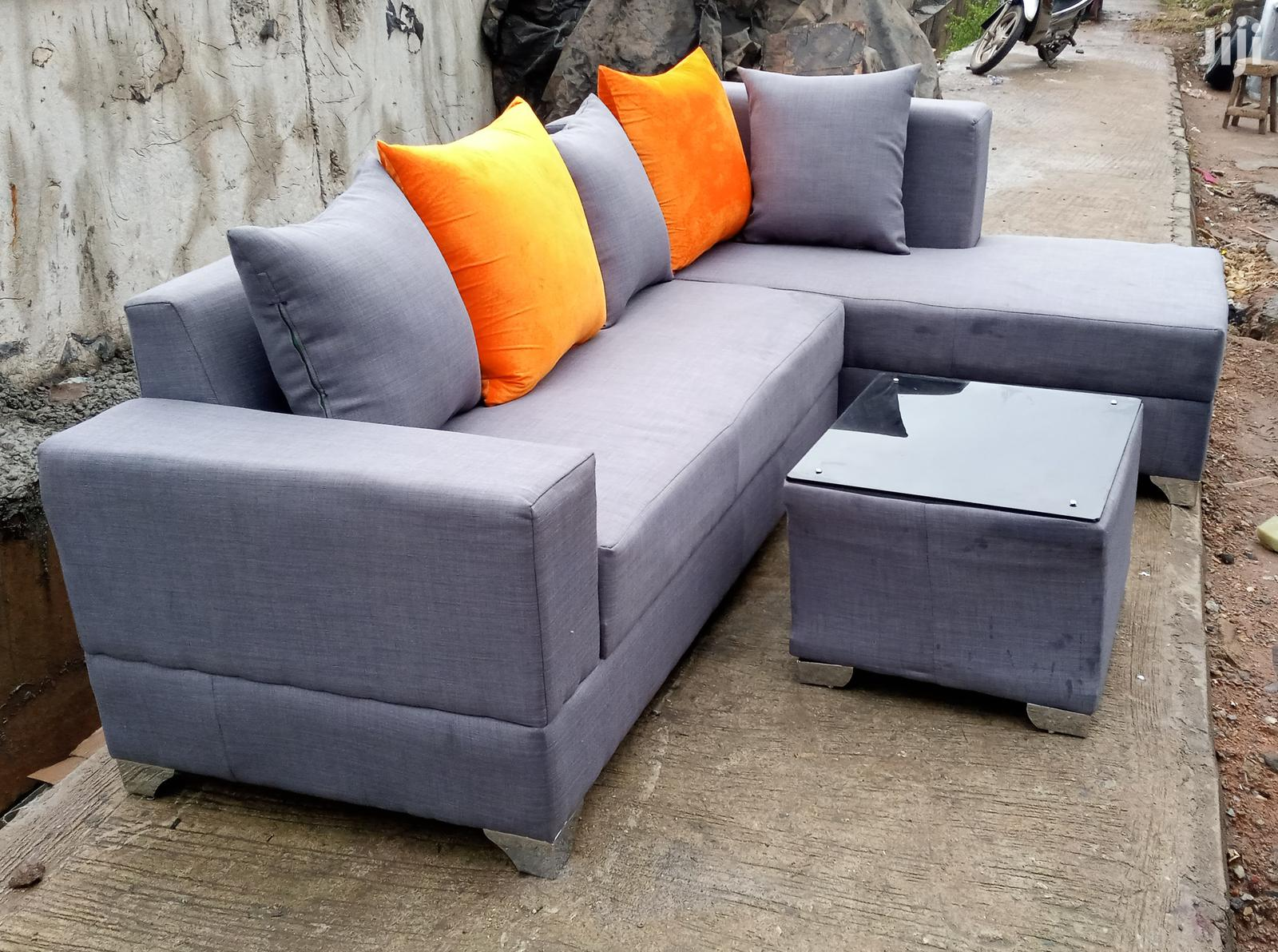 Archive L Shaped Sofa Chairs With Glass Centre Table Grey Fabric Couches In Lagos State Furniture Prefix E Jiji Ng For Sale In Lagos Prefix E On Jiji Ng