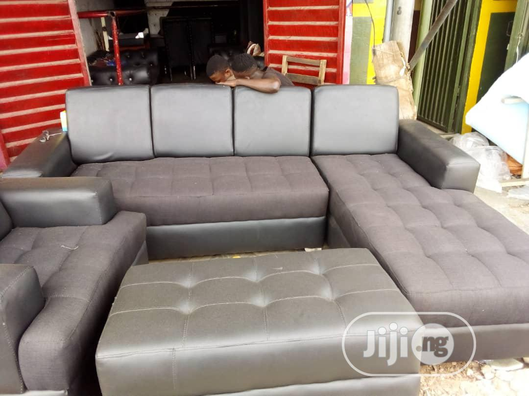 l shaped leather sofa with center table