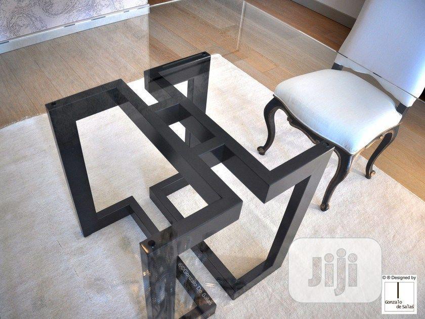 steel metal sitting room table