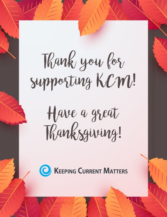 Thank You for Your Support! | Keeping Current Matters