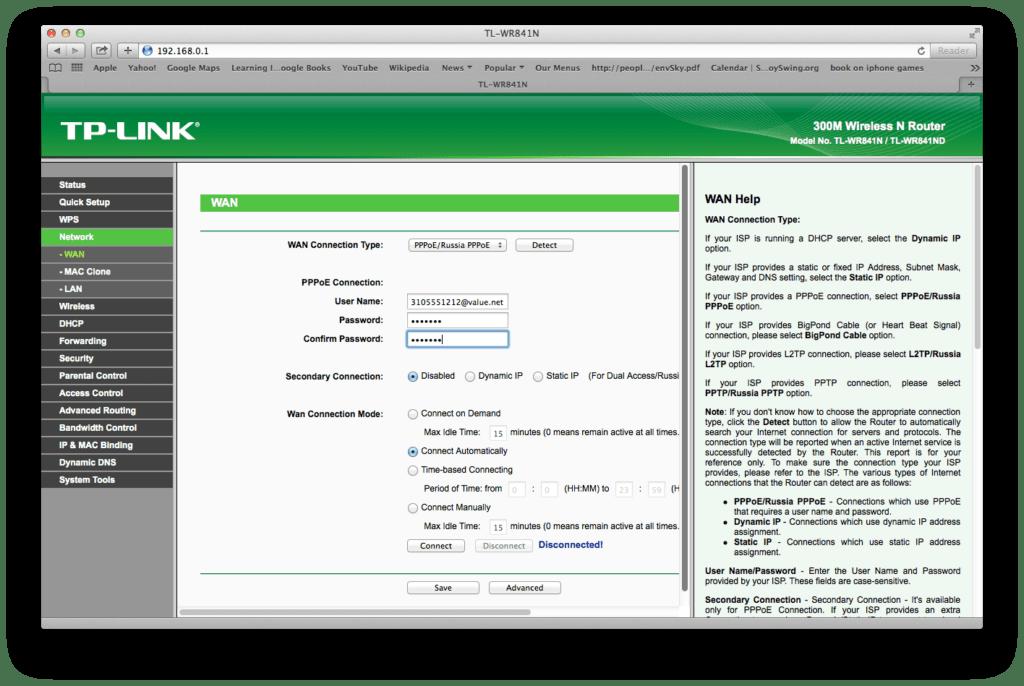 Imagem mostra painel do roteador tp-link de ip 192.168.0.1 e não 192.168.0.1.1