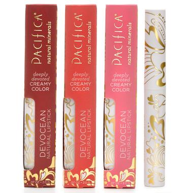 Pacifica Devocean Natural Lipstick Deeply Devoted Creamy Color - Rebel Sol